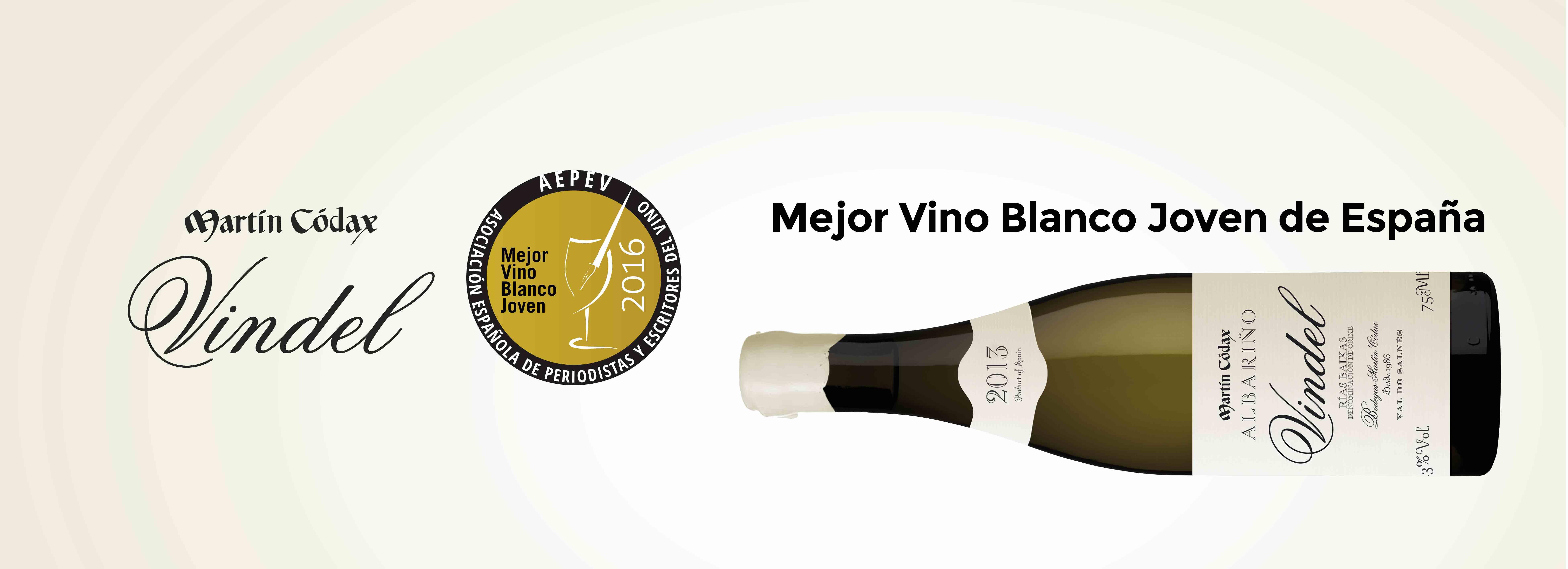 Martín Códax Vindel, Mejor Vino Blanco sin barrica 2016