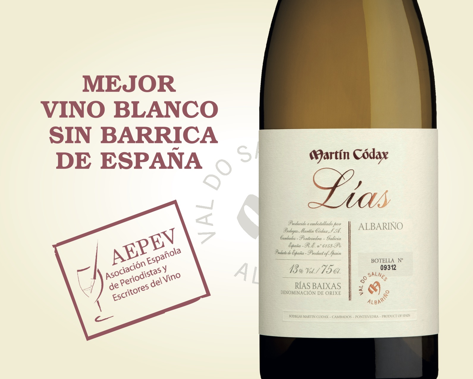 Martín Códax Lías, 2017 Best White Wine of Spain