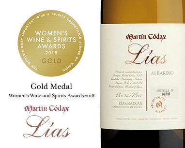 Martín Códax Lías, ouro nos Women's Wine & Spirit Awards 2018