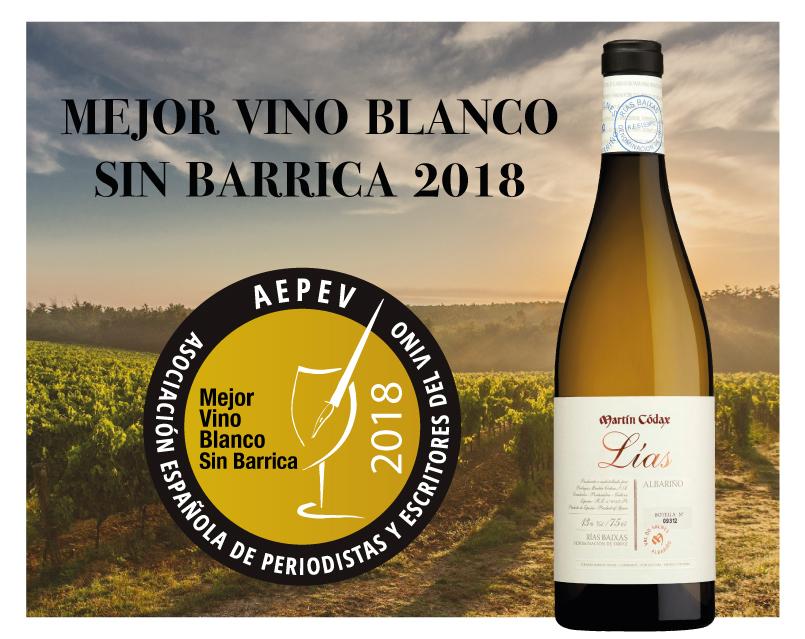 Martín Códax Lías, Mejor Vino Blanco sin barrica de España 2018